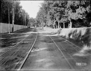 Streetcar on Ocean Avenue near Ingleside Inn | November 3, 1909